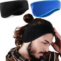 Fleece Ear Headband Warmer Winter Earmuff Women Men Ski Bike Running Sport head.