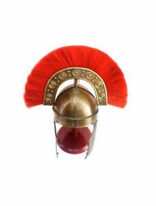 Ancient HBO Rome Helmet Medieval Costume Armor Helmet Armor Replica w/Red Plume
