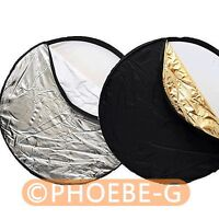 "60cm 24"" 5-in-1 Light Multi Collapsible disc Reflector"