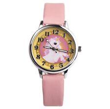 Reloj de Muñeca Niños Caballo Unicornio Pony Rosa Amarillo Niñas Plata
