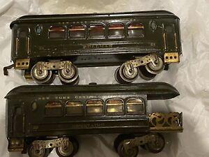 Ribbed 35 Pullman & 36 Observation Passenger cars, rare. Lionel standard gauge