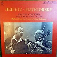 Brahms Concerto For Violin And Cello Heifetz Piatigorsky Orchestra RCA Victor LP