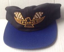 FORD THUNDERBIRD HOT WEATHER BASEBALL CAP SPORTS HAT, BLACK with BLUE MESH, NEW