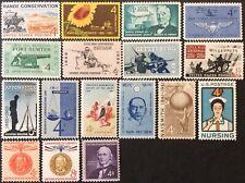 1961 Commemorative singles, Scott #1174-90, MNH, F-VF