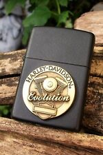 Zippo Lighter - Harley Davidson - Evolution - Engine Series - Brass Medallion