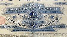 Kaiserlich Chinesische histor. Gold Anleihe Berlin 1896 + Kupons China gold loan