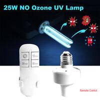 25W E27 UVC Compact Germicidal Sterilization No Ozone Ultraviolet Quartz Light
