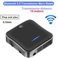 Bluetooth 5.0 Transmitter Receiver APTX HD wireless 3.5mm audio plug and play pc