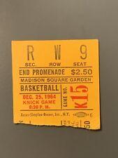 1964 Christmas New York Knicks V Baltimore Bullets Ticket Stub Willis Reed RC