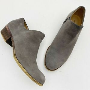 LUCKY BRAND Brixlee Gray Suede Ankle Boot Bootie - Size 7M