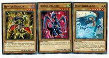 Luster Dragon  + Hunter Dragon + WattailDragon  YS14 Set 1st mint  Yugioh