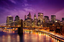 Fototapete New York bei Nacht Nr.178 Größe 400x280cm Tapete USA