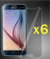 LOT OF 6 CLEAR LCD SCREEN PROTECTOR GUARD SHIELD FILM FOR SAMSUNG GALAXY S6