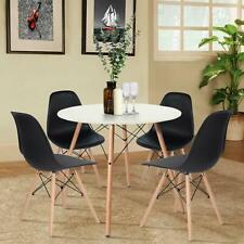 Rund Esstisch Modern Büro Skandinavisch Küchentisch mit 4er Set Retro Stühlen