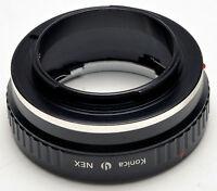 Konica AR Objektiv Zu Sony NEX-7 NEX-5N NEX-3 NEX-5 NEX-VG10 E Mount Adapter