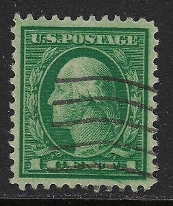 SCOTT 498 1917 1 CENT WASHINGTON REGULAR ISSUE USED VF!