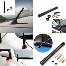 """4.7"""" Black Carbon Fiber Car Exterior AM/FM Radio Antenna Short Aerial & 3 Screws"""