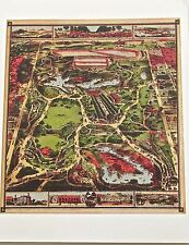 New York City Historic Map Reproduction of Central Park Proposal in 1860 14x11