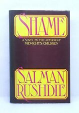 First American Edition Shame by Salman Rushdie hardcover dust jacket 1983 Knopf