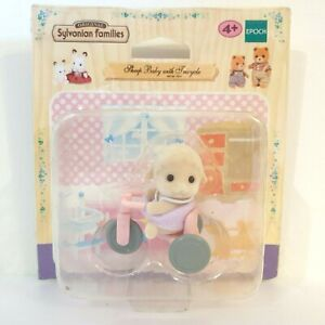 Sylvanian Families - Sheep Baby with Tricycle - 1441