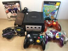 Nintendo GameCube Jet Black System Console 3 Controllers 2 Games Lot Digital Out