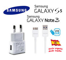 CARGADOR RED 2A SAMSUNG + CABLE USB 3.0 PARA GALAXY NOTE 3 S5 ETA-U90EWE