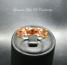 9ct Gold Topaz and Diamond Ring Size P
