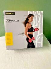 Ultralife 15 LB Set Dumbbells Weights 7.5 LB Each (2) Pink New Gym Training