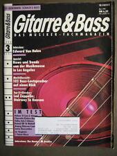 GITARRE & BASS 1990 # 3 - EDDIE VAN HALEN LED ZEPPELIN HOOTERS BONFIRE BASS LAUT