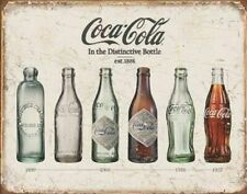 Coca-Cola Coca Cola Bottle Evolution Tin Sign 16 X 13in