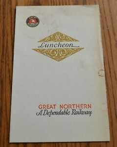 1930's Great Northern Railroad Dining Car Luncheon Menu National Egg Week