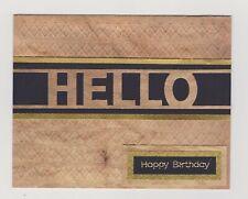 Blank Handmade Greeting Card ~ HELLO HAPPY BIRTHDAY