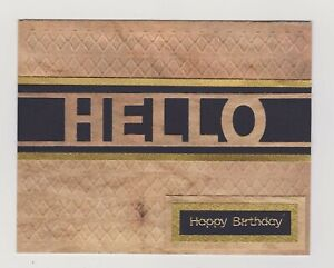 Blank Handmade Greeting Card ~ HELLO HAPPY BIRTHDAY