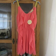 Love struck Coral, waterfall dress size S RRP £30 BNWT
