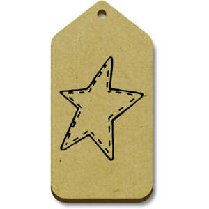 'Stitched Star' Gift / Luggage Tags (Pack of 10) (TG019733)
