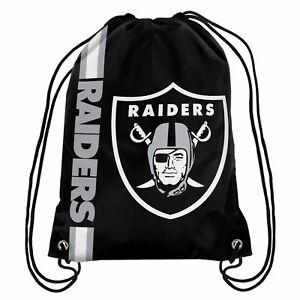 Oakland Raiders Back Pack/Sack Drawstring Gym Bag Sport Backpack Side Stripe