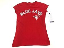Women's Toronto Blue Jays MLB Baseball Alternate Red Round Neck T Shirt Large