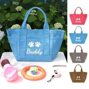 Personalized Pet Dog Single Shoulder Bag Engraved ID Name Cat Outdoor Travel Bag