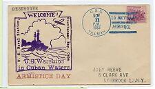 Vintage 1933 First Day Us Navy Envelope Cachet Uss Tillman