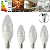 6/12x E14 SES 8W=60W LED Candle Light Bulbs Spotlight Brightness Energy Saving