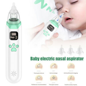 Rechargeable Baby Nasal Aspirator Electric Safe Hygienic Nose Cleaner For Infant