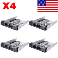 "4PCS 3.5"" SAS SATA HDD Hard Drive Tray Caddy Sled for Dell PowerEdge R410 Server"