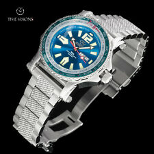 Reactor 45mm Proton World Timer Light Blue Dial Bracelet Watch with Never Dark