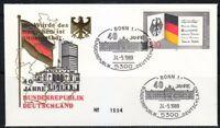 Germany 1989 cover SST Sonderstempel Bonn 40 Jahre Bundesrepublik Deutschland