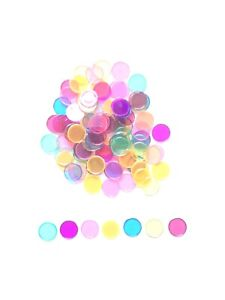 """Assorted Multi Color Magnetic Bingo Chips 3/4"""" Size- Bag of 100"""