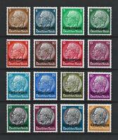 DR Nazi WWII Germany Rare WW2 Stamps Hindenburg Medallion Lothringen Overprint