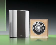 Libra+ Classic 100m Wireless Doorbell kit Chrome Visitors/Natural Oak, D912NVC