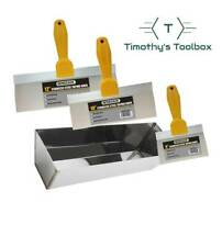 Drywall Taping And Finishing Knife Set 61012 Stainless Steel 12 Mud Pan