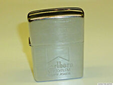 "MARLBORO ""MEDIUM SOFT PACK"" ZIPPO LIGHTER - CHROME BRUSHED - 2000 - NEVER STRUCK"