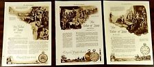 ELGIN NATIONAL WATCH CO. 3 Full-Page Ads 1922 Mohammed Ceasar Alexander Great